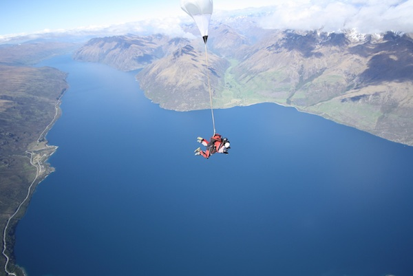This is what a free-fall looks like. And yes, that's me.