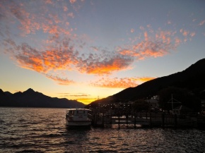 Sunset -- my last night in Queenstown.