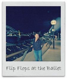 flip flops at the ballet